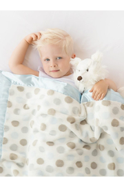 LITTLE GIRAFFE Luxe Dot Baby Blanket - Front cropped