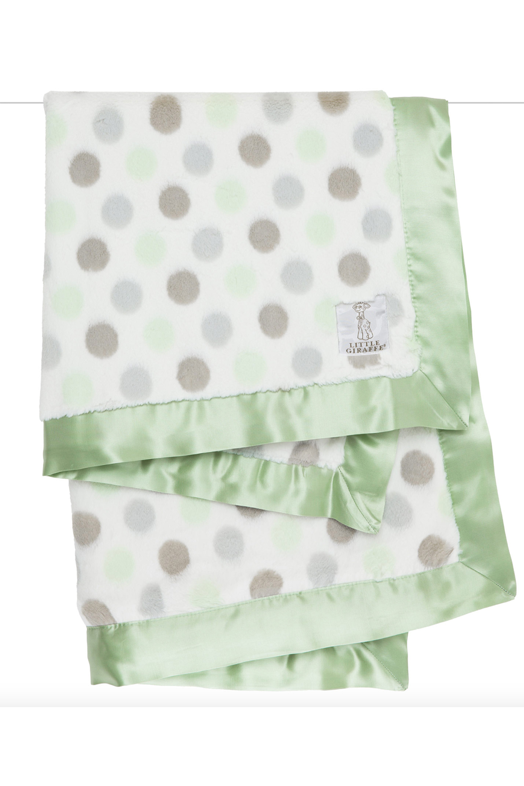 LITTLE GIRAFFE Luxe Dot Baby Blanket - Front Cropped Image