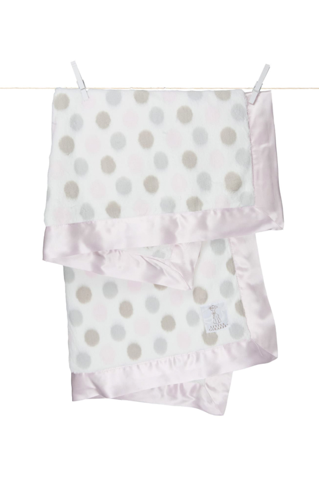 LITTLE GIRAFFE Luxe Dot Baby Blanket - Main Image