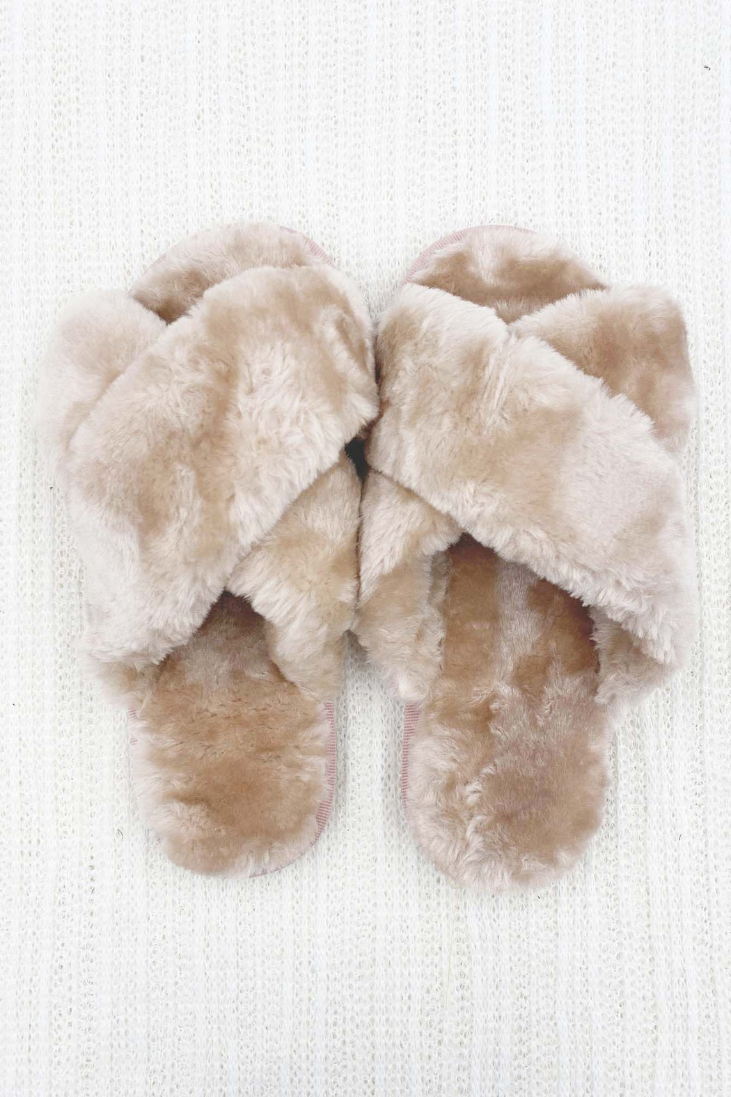 Ark & Co. Luxe Faux Fur Slippers - Main Image