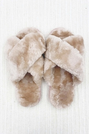 Ark & Co. Luxe Faux Fur Slippers - Front cropped