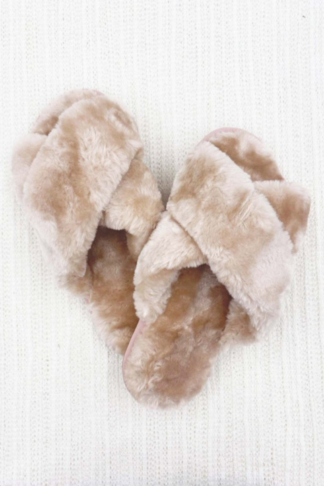 Ark & Co. Luxe Faux Fur Slippers - Front Full Image