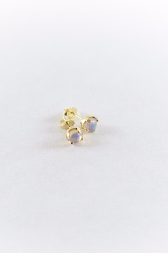 Luxe Gold Opal Studs - Alternate List Image