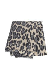 JOY ACCESSORIES INC Luxe Grey Leopard Scarf - Product Mini Image