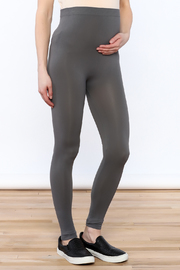 Luxe Junkie Light Grey Maternity Legging - Product Mini Image