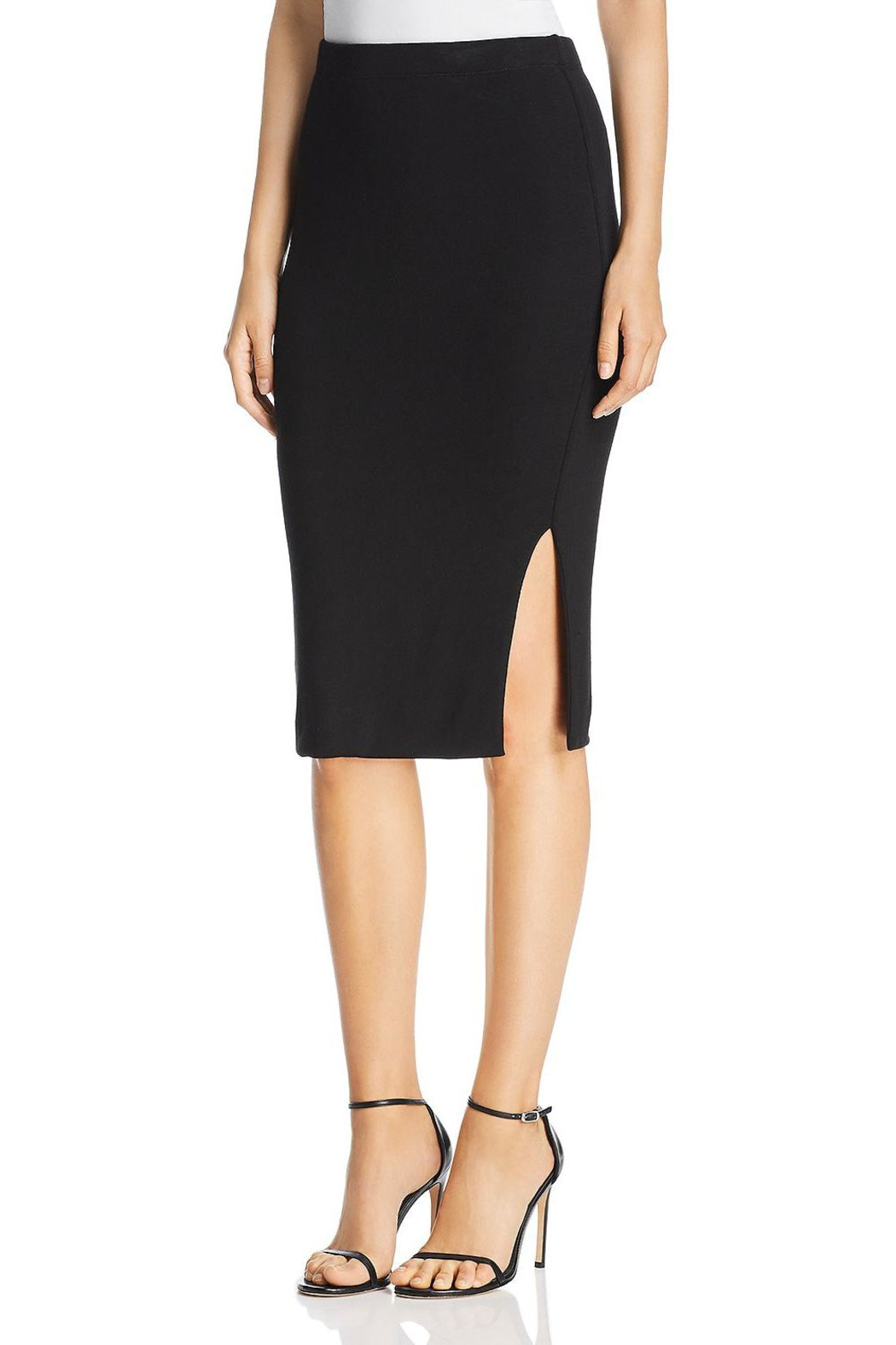 3 Dot Luxe-Knit Pencil Skirt - Main Image