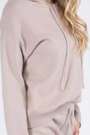 Whiteroom Cactus Luxe Knitted Hoodie - Back cropped