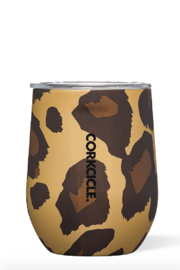 Corkcicle Luxe Leopard Stemless Wine Tumbler - Front cropped