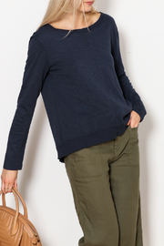 Dylan by True Grit Luxe Long Sleeve Tie Back Top - Product Mini Image