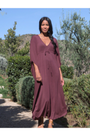 Barefoot Dreams LUXE MILK JERSEY PARADISE COVE CAFTAN - ROSEWOOD (S/M) - Product Mini Image