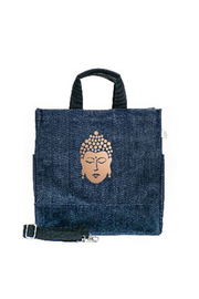 Quilted Koala LUXE NORTH-SOUTH BAG: DENIM - Front cropped