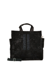 Quilted Koala LUXE NORTH SOUTH: BLACK CRUSHED VELVET - Product Mini Image