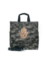 Quilted Koala Luxe North-South Camo Tote - Product Mini Image