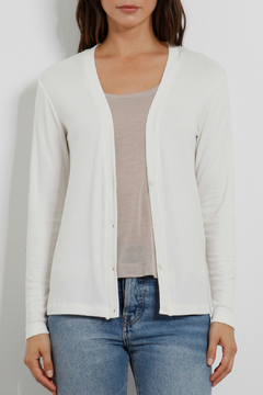 Three Dots Luxe rib Cardi w Gathered Back - Alternate List Image