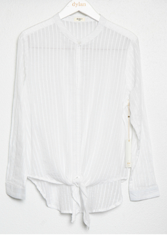Dylan Luxe sht stripe tie top - Product List Image