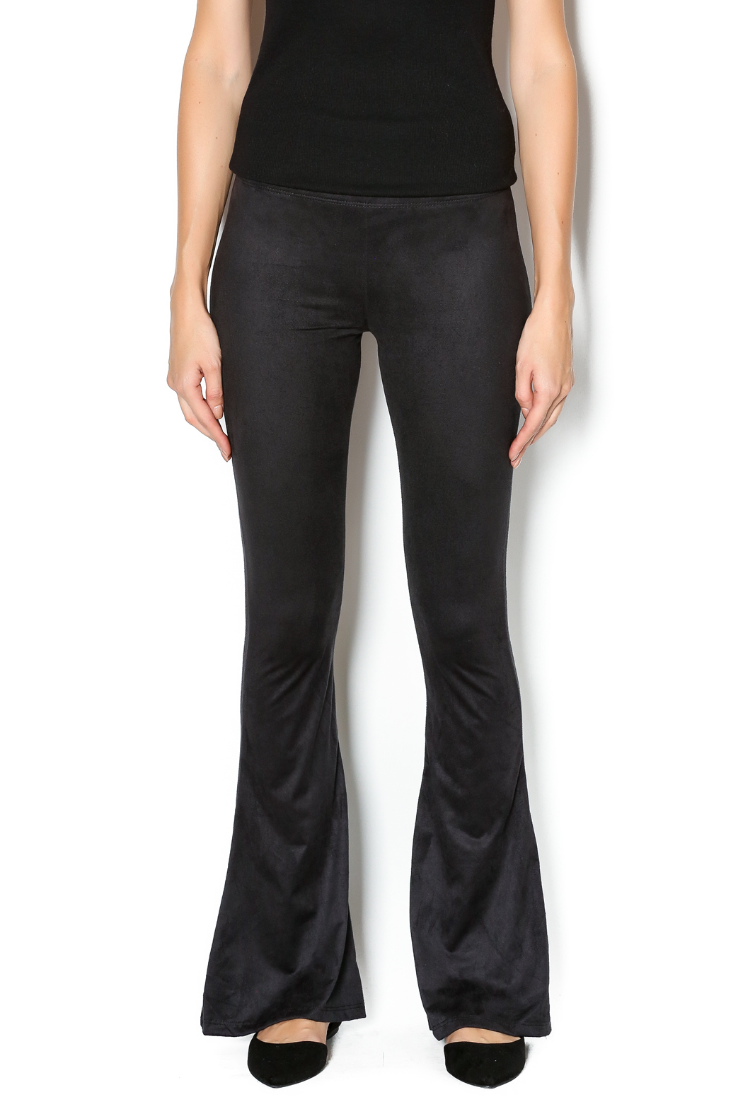 Luxe Suede Flare Pants From Long Island By Luxe Boutique