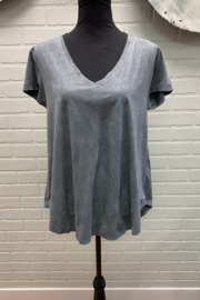 Dylan by True Grit Luxe Suede V Tee - Product Mini Image