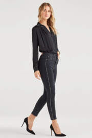 7 For all Mankind Luxe Vintage High Waist Ankle Skinny with Snake Piping in Moon Shadow - Product Mini Image