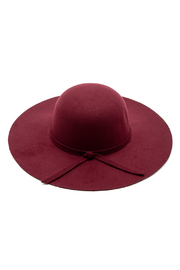 Luxe Wool Wide Brimmed Hat - Front cropped