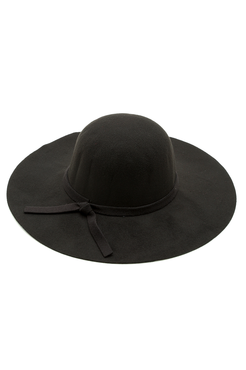 Luxe Wool Wide Brimmed Hat - Front Cropped Image