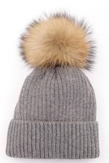 Luxe Boutiques Fur Pom-Pom Hat - Main Image