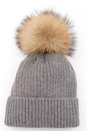 Luxe Boutiques Fur Pom-Pom Hat - Front cropped