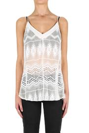 Luxe Deluxe Silk Embroidered Cami - Product Mini Image