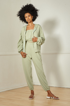 SAGE THE LABEL LUXELOUNGE SHIRRING HOODIE - Product List Image