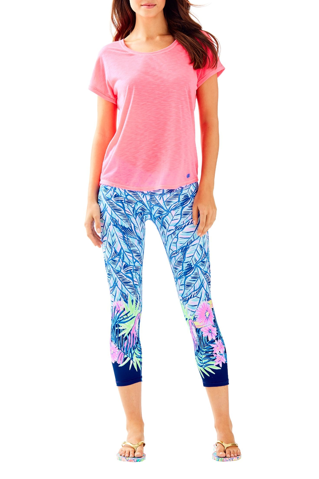 Lilly Pulitzer Luxletic Bryana Tee - Side Cropped Image