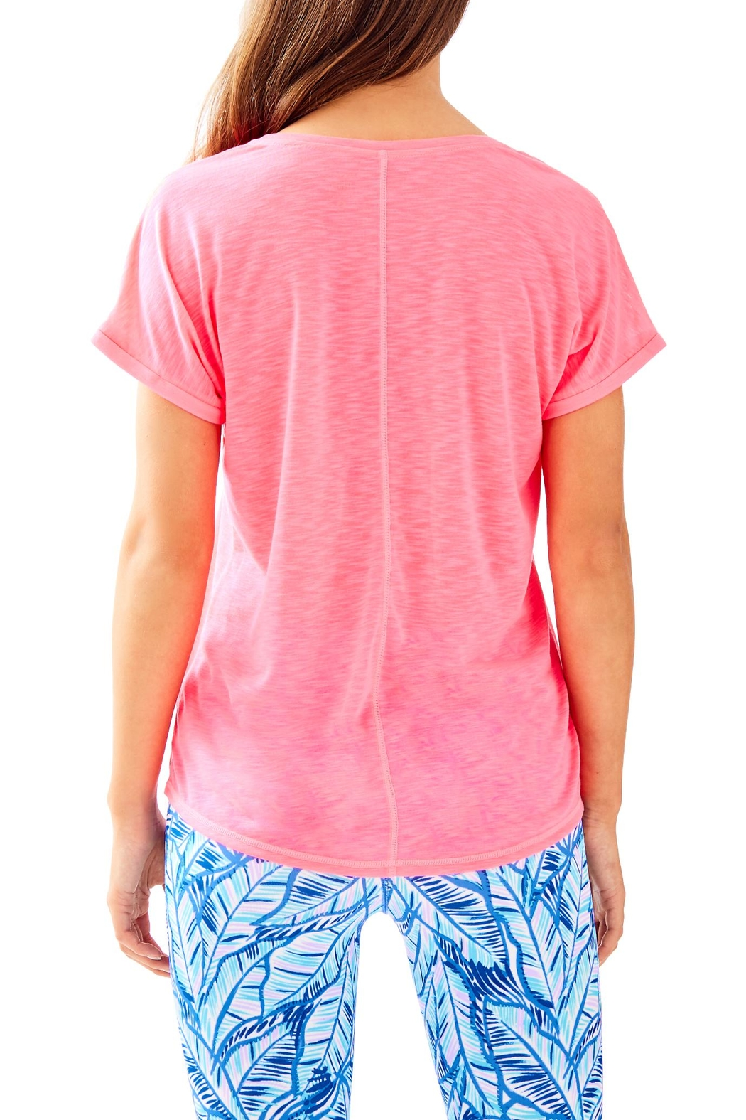 Lilly Pulitzer Luxletic Bryana Tee - Front Full Image