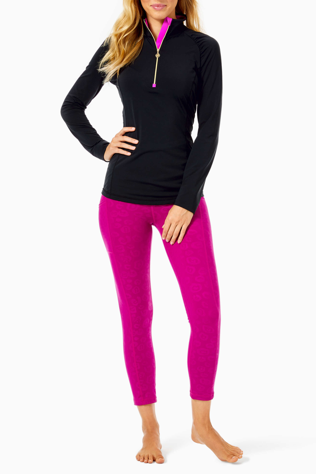 Lilly Pulitzer  Luxletic Justine Pullover UPF 50+ - Side Cropped Image
