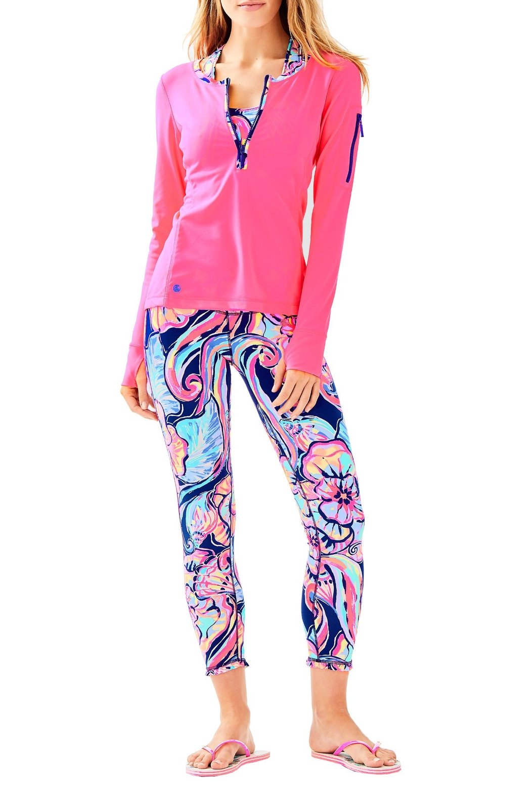 Lilly Pulitzer Luxletic Kona Sunguard - Side Cropped Image