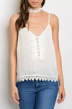 Luxmi Kinzie Ivory Top - Product List Image