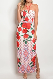 Luxmi Red Rose Dress - Product Mini Image