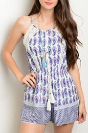 Luxmi White/royal Paisley Romper - Product Mini Image