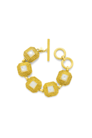 The Birds Nest LUXOR BRACELET-GOLD/MOTHER OF PEARL - Front cropped