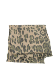 Joy Accessories Luxurious Leopard Scarf - Front full body