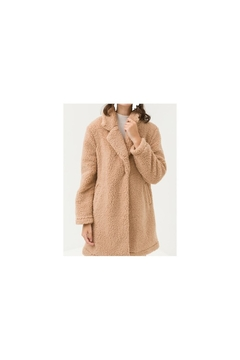 Back in Love Luxurious tan faux Shearling coat - Product List Image
