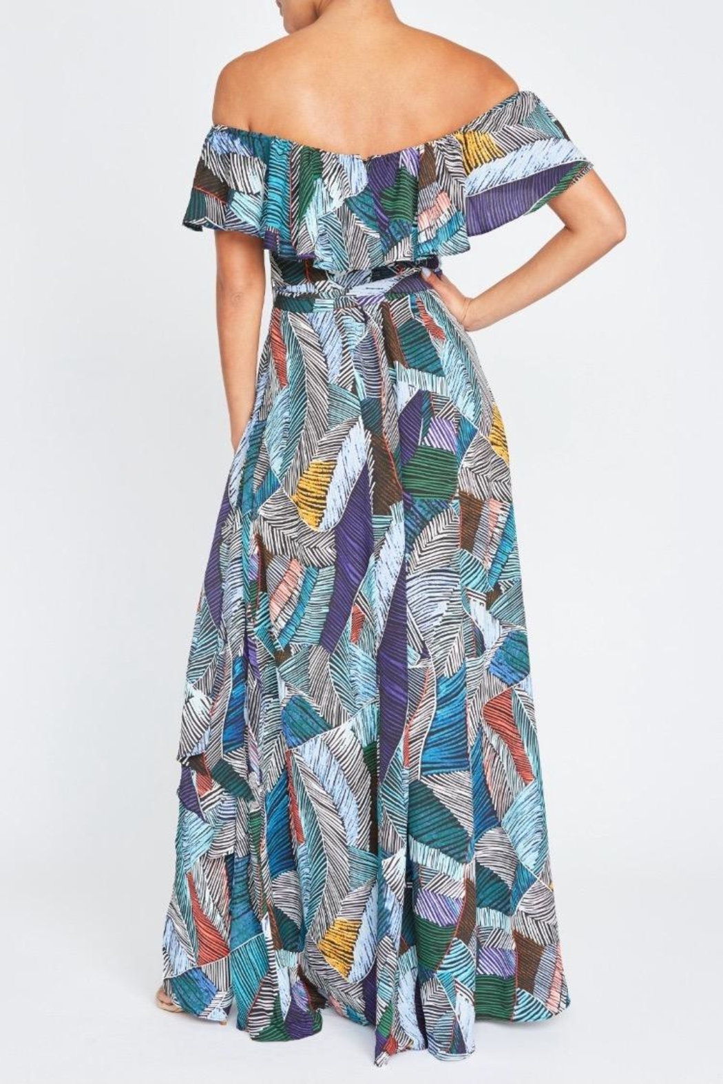 luxxel Abstract Lines Maxi - Front Full Image