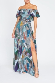 luxxel Abstract Lines Maxi - Front cropped