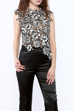 Shoptiques Product: Asymmetrical Crochet Top