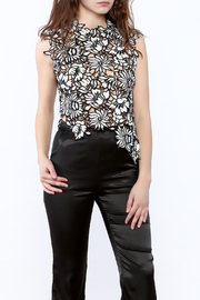 luxxel Asymmetrical Crochet Top - Product Mini Image