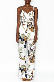 luxxel Belted Floral Jumpsuit - Product Mini Image