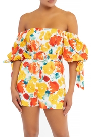 luxxel Belted Floral Romper - Product Mini Image