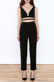 luxxel Black Buckle Jumpsuit - Front cropped