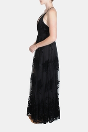 luxxel Black Monochrome Floral-Gown - Other