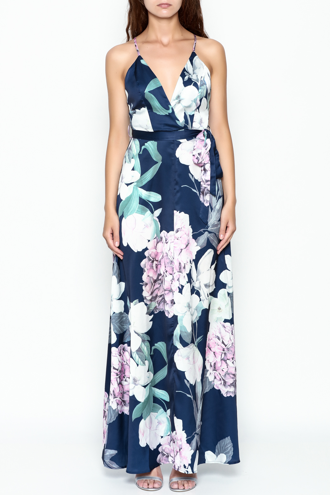 luxxel Blooming Maxi Dress - Front Full Image