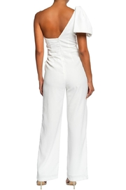 luxxel Bow Accent Jumpsuit - Front full body