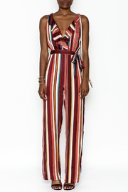 luxxel Chiffon Stripe Jumpsuit - Product Mini Image
