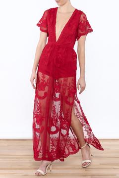 luxxel Chloe Red Romper - Product List Image